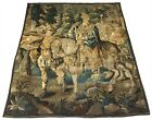 LATE 16th CENTURY LARGE FLEMISH TAPESTRY FRAGMENT ANTIQUE 6 x 8'
