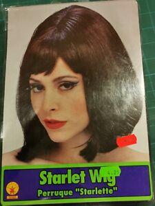 #36 Brown brunette starlet Bob wig adult size Fancy Dress Costume Rubies 50488
