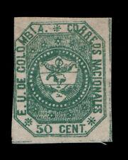 Vintage: Colombia 1862 Unu Lh Gorgeous Scott # 21 $ 250 Lot # Vswcol1862-Z