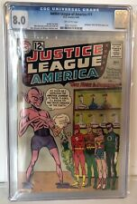 """JUSTICE LEAGUE OF AMERICA #11 - CGC 8.0 - """"ONE HOUR TO DOOMSDAY"""" OFF WHITE PAGES"""