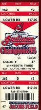 Baseball Ticket Cleveland Indians 1996 7/20 Minnesota Twins Albert Belle HR
