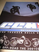 Ccm Range Motorcycle Sales Brochure - 2001 - 604 Trial, 604 Supermoto, 604 Rs