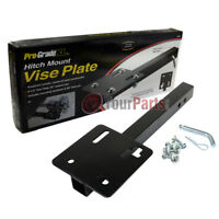 "8"" x 8"" Steel Bench Vise Plate Hitch Mounted for 2"" Receiver 22"" Receiver Bar"