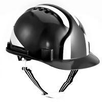 SAFEYEAR Work Hard Hat Safety Fixed Helmet Reflective 6points Strap Construction