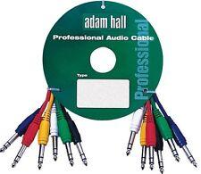"""6 X Jack estéreo de cables de interconexión 0.6m conduce PA Cable Lead tomas de 1/4"""" de 6.35 mm se conecta"""