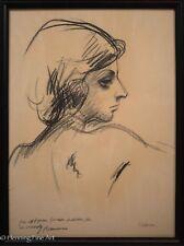 Georg Edmund Pielmann Original Pastel Drawing Female Portrait Inscribed & Signed