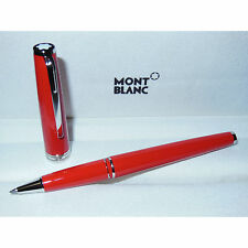 New Montblanc Pix Collection Red/Platinum Rollerball Pen 114813 orange coral