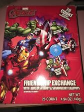 Marvel Avengers Friendship Exchange 28 Count With Lollipops Valentines~