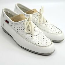 VTG Dodson Glov ETT Shoes Womens 9 W White Leather Oxford Nurse Uniform Retro