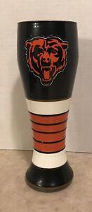 Chicago Bears NFL Football Hand Painted Artisan 23 ounce Pilsner Glass Boelter