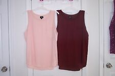 NEW Womens Mossimo XXL Burgundy Sleeveless Blouse Top Pink SOLD!!!