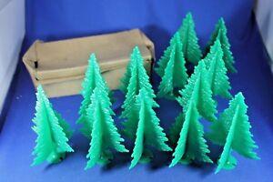 Plasticville - O-O27 - #TR-6 Green Spruce Trees (12) Dealer Box - Very Good