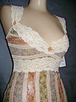 0088e8ccb2f Claire Pettibone Nightgown Chemise Ivory Lace Sage Copper Blue EMMA M  150  NWT