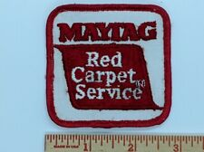 Vintage Red Carpet Service MAYTAG Patch Washer Dryer Appliance MIS0054
