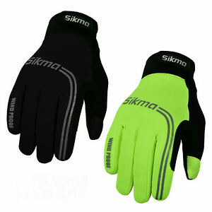 Cycling Gloves Windproof Gel Padded Touchscreen Full Finger Winter Gloves