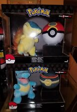 Pokemon Cyndaquil & Repeat Ball, Totodile & Luxury Ball Plush TOMY Gamestop