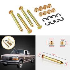 4X Zinc Plated Steel Door Hinges Pin & Door Bushings & E-ring Clips Repair Kit