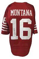 Joe Montana Autographed Pro Style Red Jersey JSA Authenticated