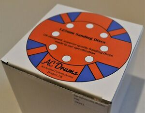 100pc 125mm Sanding Discs mixed Grit Orbital Sander Pads