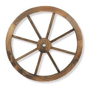 Ornamental Burntwood Cartwheel Decorative Garden Vintage Rustic Wagon Wheels