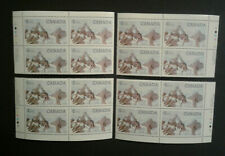 Canada #934iv, 1984 $1, Glacier, 4-Corner Set MNH