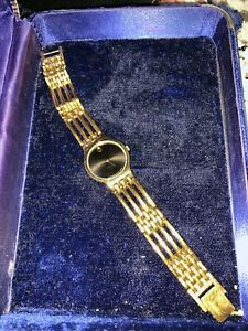 Movado Ladies Esperanza Swiss Gold Plated Quartz Museum Watch
