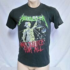 VTG 1988 Metallica T Shirt 80s Tee And Justice For All Tour 50/50 Concert Large