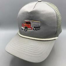 Vintage Dump Truck Adjustable Snapback Trucker Hat Cap