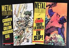 METAL HURLANT - LOT DE 2 N°59 ET 60 - 1981 - ETAT NEUF