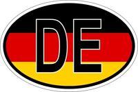 Autocollant sticker ovale oval drapeau code pays D allemagne