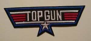 "TOP GUN US Navy Pilot Jet Fighter F-14 Tomcat Embroidered Patch~4 1/4"" x 1 5/8"""