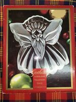 "GORHAM CRYSTAL Holiday Traditions ANGELS OF PEACE 8 1/2""  Angel Candy Dish  NIB"