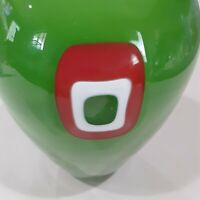 Mystery Artist - Bright Colored Hand Blown Glass Vase (Signed)