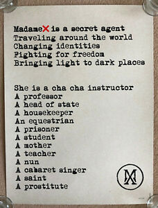 MADONNA * MADAME X * OOP LIMITED EDITION MANIFESTO LITHOGRAPH * 500 ONLY! * BN!