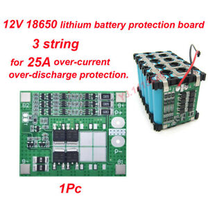 3S 11.1V 25A w/Balance BMS Protection PCB Board for 18650 Li-ion Lithium Battery