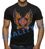 Men/'s Firefighter Kick Ash Black Baseball Raglan T Shirt Fire Rescue Fighter Tee