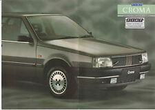 FIAT Croma Opuscolo 1988 2.0 CHT, 2.0 ie SUPER,2. OIE SX, 2.0 turboie * POST GRATIS UK
