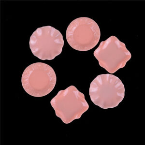 2pcs 1:12 Dollhouse Kitchen Pink Plates Diy Miniature Decor Photographic Prop^qi