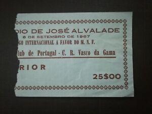 TICKET FRIENDLY 06/09/1967 SPORTING CP x VASCO DA GAMA BRASIL
