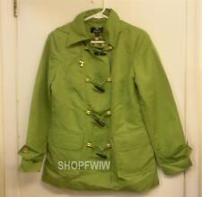 Ladies Dennis Basso Green Hooded Raincoat Jacket XXS New NWT
