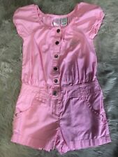 Guess Jeans Los Angeles Cap Sleeve Pink Cotton Romper young youth girls size 6