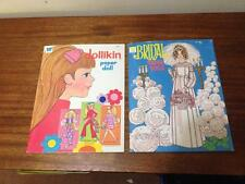Whitman bridal and little hippy girl paper dolls