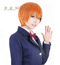 Anime Love Live! hoshizora Rin Corto Naranja Cosplay Peluca + Gratis Cap + Track