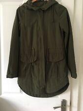 Ladies H&M Divided Khaki Green Parka Jacket/Coat Size UK 6 (US 4) (EUR 34). E/Co
