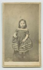 CDV - LITTLE NATIVE AMERICAN INDIAN GIRL IN PRAIRIE DRESS - HAMILTON, OHIO 1800s