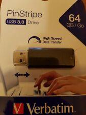 Verbatim PinStripe USB flash drive 64 GB USB Type-A 3.2 Gen 1 (3.1 Gen 1) Black