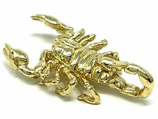 "14k Yellow Gold Scorpion Pendant Insect Charm 1.15"" 5.7 grams"