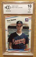 Tom Glavine Rookie Grade 10 1988 Fleer #539 BCCG
