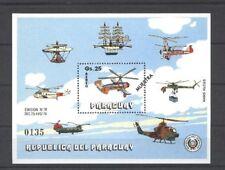 Flugzeuge, Hubschrauber - Paraguay - Bl.344 ** MNH 1979 Muestra