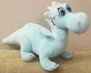 Disney Just Play Crackle Dragon Sofia the First Plush Green Purple 12 inch